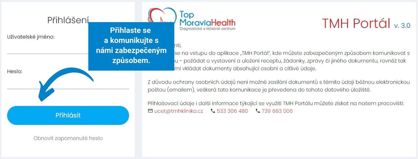 Rezervační systém Top Moravia Health